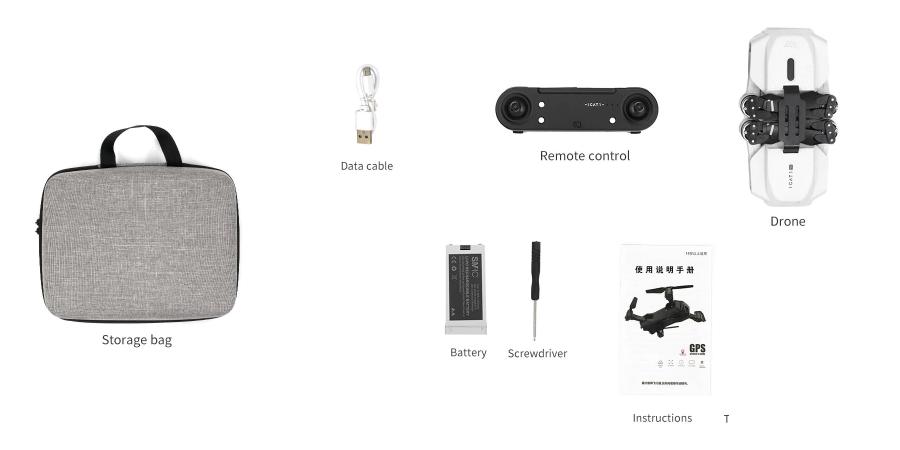 محتویات جعبه کوادکوپتر icat 1 pro