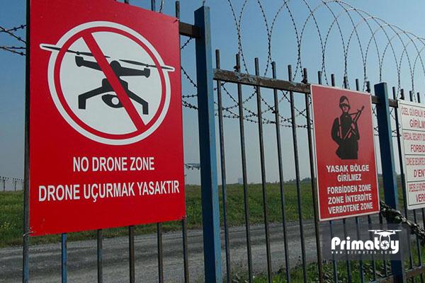 ممنوعیت پرواز پهپاد در منطقه نظامی