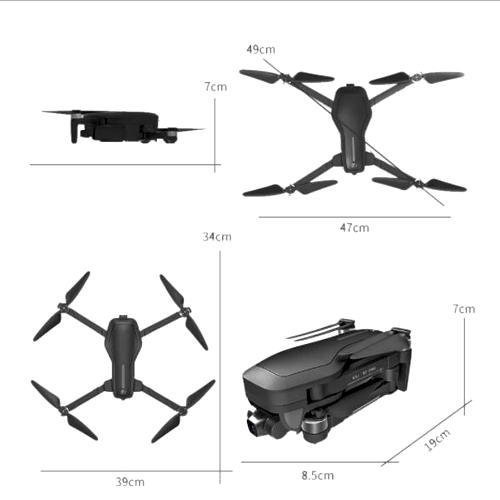 ابعاد کوادکوپتر دوربین دار پرو مدل csj x7