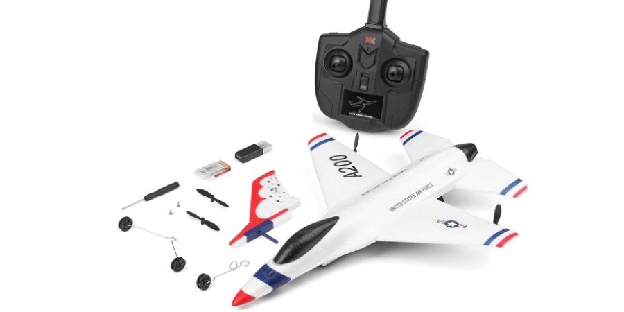 محتویات جعبه هواپیمای کنترلی A200